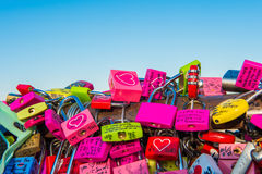 SEOUL - FEBRUARY 1 : Love padlocks at N Seoul Tower. Royalty Free Stock Photo