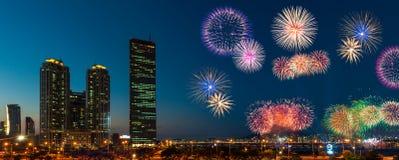 Seoul Fieworks Festival Stock Image