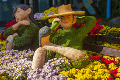 Seoul Flower Festival Display Royalty Free Stock Photography