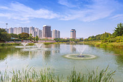 Seoul Forest Park in Seoul-Stadt, Südkorea Lizenzfreie Stockfotografie