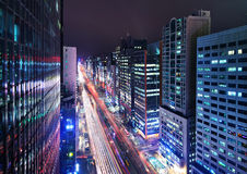 Seoul Gangnam District Cityscape Stock Image