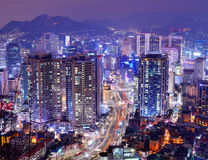 Seoul Gangnam område Royaltyfri Bild