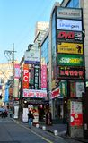 Gangnam street life in Seoul Royalty Free Stock Photography