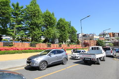 Seoul gatasikt i Sydkorea Arkivbild