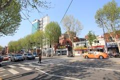Seoul gatasikt i Sydkorea Royaltyfri Fotografi