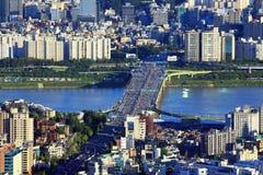 Seoul Han River Cityscape Fotos de Stock