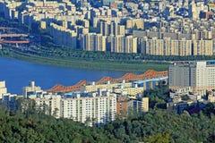Seoul Han River Cityscape Foto de Stock Royalty Free