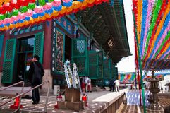 Korean buddhist temple stock photos