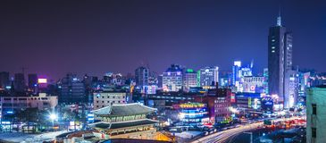 Seoul horisont Fotografering för Bildbyråer