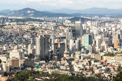 Seoul horisont Arkivbild
