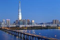 Seoul horisont, Korea fotografering för bildbyråer