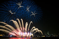 Seoul International Fireworks Festival Stock Images