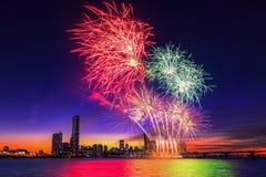 Seoul International Fireworks Festival. Royalty Free Stock Photo
