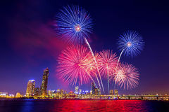 Seoul International Fireworks Festival. Stock Images