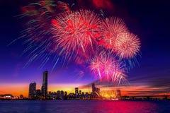 Seoul International Fireworks Festival. Stock Image