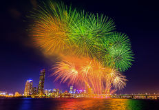 Seoul International Fireworks Festival. Stock Image