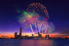 Seoul International Fireworks Festival. Stock Photo