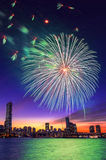 Seoul International Fireworks Festival. Royalty Free Stock Photography
