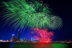 Seoul International Fireworks Festival in South Korea Royalty Free Stock Photos
