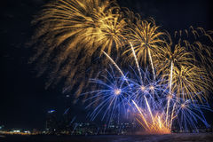 Seoul-internationales Feuerwerk-Festival Lizenzfreies Stockfoto