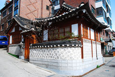 Seoul old town, Korea. The traditional neighborhood of Seoul, Korea stock photos