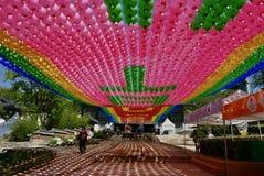Seoul, Korea-April 26, 2017: Lanterns at Bongeunsa temple Royalty Free Stock Images