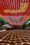 Seoul, Korea-April 26, 2017: Lanterns at Bongeunsa temple Royalty Free Stock Photo