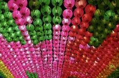 Seoul, Korea-April 26, 2017: Lanterns at Bongeunsa temple Stock Images