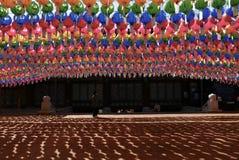 Seoul, Korea-April 26, 2017: Lanterns at Bongeunsa temple Stock Photography