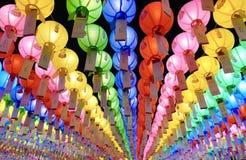 Seoul, Korea-April 26, 2017: Lanterns at Bongeunsa temple Royalty Free Stock Photos