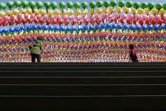 Seoul, Korea-April 26, 2017: Lanterns at Bongeunsa temple Royalty Free Stock Photography