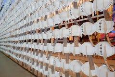 Seoul, Korea-April 27, 2017: Lanterns at Jogyesa Temple to celebrate Buddha`s Birthday Royalty Free Stock Photography
