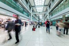 SEOUL, KOREA - APRIL 29, 2015: People walking in Incheon Airport Stock Photos