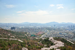 SEOUL, KOREA - APRIL 04, 2014: View of Itaewon and Seocho from N Royalty Free Stock Images