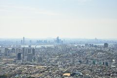 SEOUL, KOREA - APRIL 04, 2014: View of Mapo and Yeouido from Nam Stock Photography