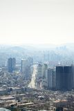 SEOUL, KOREA - APRIL 04, 2014: View of Yongsan and Dongjak from Royalty Free Stock Images