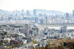 SEOUL, KOREA - APRIL 04, 2014: View of Yongsan and Gangnam from Stock Photo