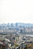 SEOUL, KOREA - APRIL 04, 2014: View of Yongsan and Gangnam from Stock Image