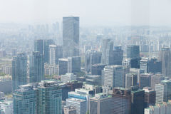 SEOUL, KOREA - 24. APRIL 2015: Vogelperspektive von Seoul Stockbilder