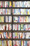 SEOUL, KOREA - AUGUST 13, 2015: Bookshelves with lots of books in bookstore of COEX convention and exhibition center on August 13, Stock Photography