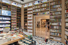 SEOUL, KOREA - AUGUST 13, 2015: Bookstore in COEX convention and exhibition center on August 13, 2015 in Seoul, South Korea Stock Photos