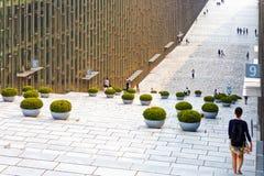 SEOUL, KOREA - AUGUST 12, 2015: Building of Ewha Womans University library - prestigious school in Seoul, South Korea Stock Images