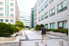 SEOUL, KOREA - AUGUST 12, 2015: Main campus of Severance hospital of Yonsei University - very prestigious high end hospital in Seo Stock Photo