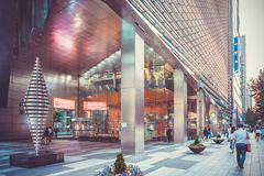 SEOUL, KOREA - AUGUST 13, 2015: Gangnam District - office area of Korea`s top businesses in finance, IT. And manufacturing industries - Seoul, Korea royalty free stock photo