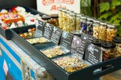 SEOUL, KOREA - AUGUST 09, 2015: Herbal teas sold at Seochon area of Seoul, South Korea Stock Photo