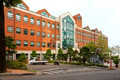 SEOUL, KOREA - AUGUST 12, 2015: Main campus of Korean Language Institute - KLI - of Yonsei University - very prestigious school in Royalty Free Stock Images