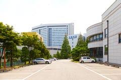 SEOUL, KOREA - AUGUST 12, 2015: Main campus of Severance hospital of Yonsei University - prestigious high end hospital in Seoul, S Stock Images
