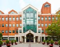 SEOUL, KOREA - AUGUST 12, 2015: Main entrance to campus of Korean Language Institute - KLI - of Yonsei University - very prestigio Stock Photo
