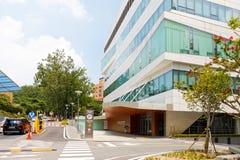 SEOUL, KOREA - AUGUST 12, 2015: New campus of Severance hospital of Yonsei University - very prestigious high end hospital in Seou Royalty Free Stock Photos