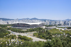 SEOUL, KOREA - 30. AUGUST 2014: Weltcup-Stadion in Seoul Lizenzfreie Stockfotos